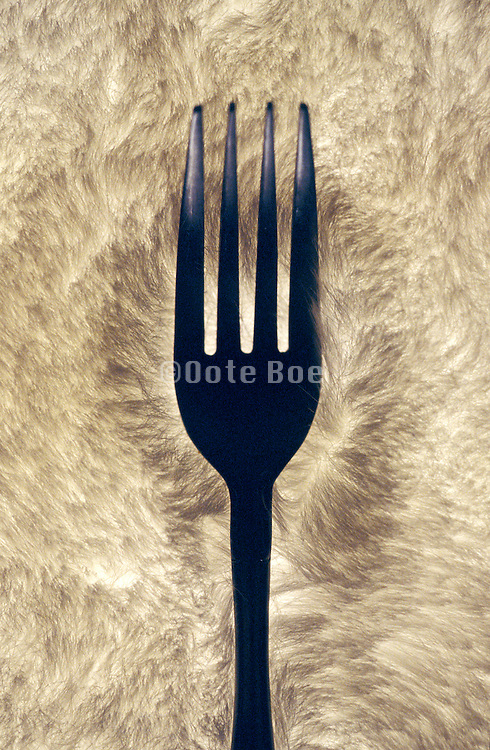 Fork on an abstract background