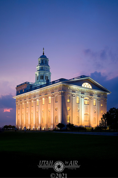 Nauvoo Temple at Night