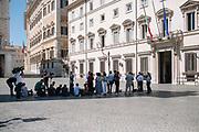 Journalist waiting in front of Palazzo Chigi, headquarter of Italian Government on 3 September 2019. Christian Mantuano / OneShot