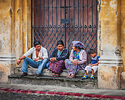 Family taking a break in Antigua de Guatemala. So many stories to tell.