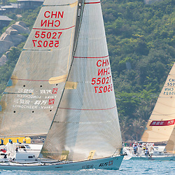 China Sanya 27.3.2014 Round Hainan Regatta<br /> Racing day 7 Start Offshore Regtta Wanning - Sanya