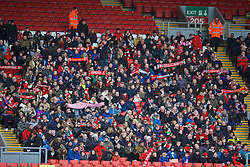 LIVERPOOL, ENGLAND - Sunday, February 7, 2016: Liverpool supporters before the Under-21 FA Premier League match against Manchester City at Anfield. (Pic by David Rawcliffe/Propaganda)