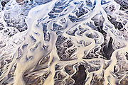 Aearial photography over Iceland. Abstract formations. Tungnaa