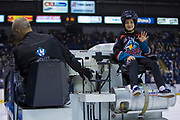 KELOWNA, CANADA - MARCH 17:  Orchard Park Zamboni Rider at the Kelowna Rockets game on March 17, 2018 at Prospera Place in Kelowna, British Columbia, Canada.  (Photo By Cindy Rogers/Nyasa Photography,  *** Local Caption ***
