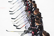 The team of Japan after their the victory at the end of the third period during the Nagano Olympics Paralympics 20th Anniversary Games at Nagano on Monday, December 25, 2017. 25/12/2017-Nagano, JAPAN.