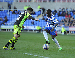 Reading's Royston Drenthe does step overs in from of Yeovil Town's Tom Lawrence - Photo mandatory by-line: Alex James/JMP - Tel: Mobile: 07966 386802 01/03/2014 - SPORT - FOOTBALL - Reading - Madejski Stadium - Reading v Yeovil Town - Sky Bet Championship