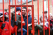 Forest supporters looking to get a glimpse of Nottingham Forest manager Martin O'Neil during the EFL Sky Bet Championship match between Nottingham Forest and Bristol City at the City Ground, Nottingham, England on 19 January 2019.