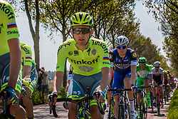 Peloton with MAJKA Rafal from Poland of Tinkoff (RUS) on the Hoenderloseweg at Deelen, stage 2 from Arnhem to Nijmegen running 190 km of the 99th Giro d'Italia (UCI WorldTour), The Netherlands, 7 May 2016. Photo by Pim Nijland / PelotonPhotos.com | All photos usage must carry mandatory copyright credit (Peloton Photos | Pim Nijland)