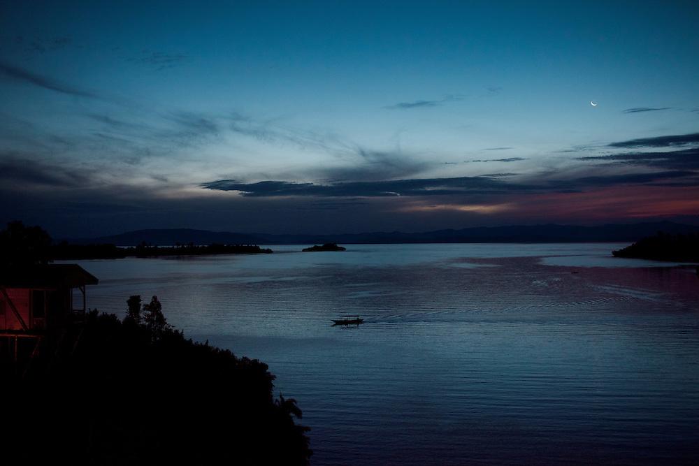 Lake Kivue as viewed from the Cormaran Lodge