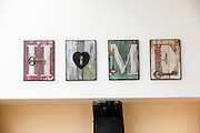 HOME written in Graphic text