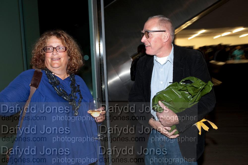 KAREN WRIGHT; RICHARD WENTWORTH, The Unilever Series: Tacita Dean. Tate Modern. London. 10 October 2011. <br /> <br />  , -DO NOT ARCHIVE-© Copyright Photograph by Dafydd Jones. 248 Clapham Rd. London SW9 0PZ. Tel 0207 820 0771. www.dafjones.com.