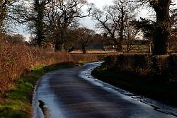 UK ENGLAND NORFOLK HINDOLVESTON 13MAR04 - Country lane near Hindolveston Village, Norfolk, England.<br /> <br /> <br /> <br /> jre/Photo by Jiri Rezac<br /> <br /> <br /> <br /> &copy; Jiri Rezac 2004<br /> <br /> <br /> <br /> Contact: +44 (0) 7050 110 417<br /> <br /> Mobile:  +44 (0) 7801 337 683<br /> <br /> Office:  +44 (0) 20 8968 9635<br /> <br /> <br /> <br /> Email:   jiri@jirirezac.com<br /> <br /> Web:    www.jirirezac.com