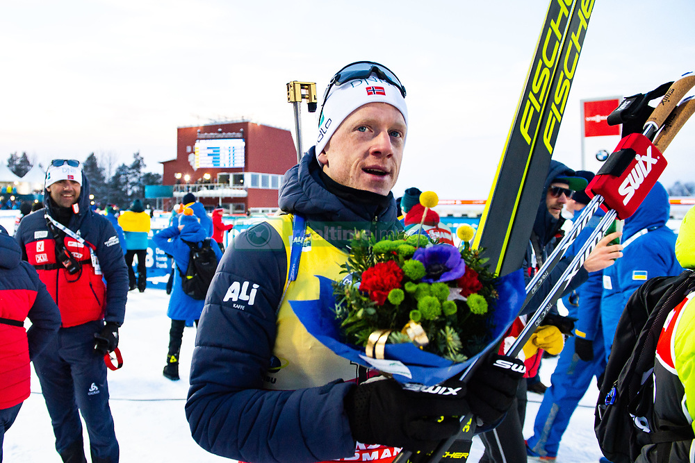 March 10, 2019 - –Stersund, Sweden - 190310 Johannes Thingnes Bö of Norway looks dejected after the Men's 12,5 km Pursuit during the IBU World Championships Biathlon on March 10, 2019 in Östersund..Photo: Petter Arvidson / BILDBYRÃ…N / kod PA / 92255 (Credit Image: © Petter Arvidson/Bildbyran via ZUMA Press)