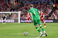 May 24, 2017: Liverpool FC player Loris Karius (1) at the soccer match, between English Premiere League team Liverpool FC and Sydney FC, played at ANZ Stadium in Sydney, NSW Australia.