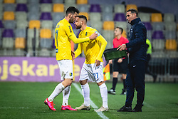 Roko Baturina of Bravo and Aljoša Matko of Bravo during football match between NK Maribor and NK Bravo in 25th Round of Prva liga Telekom Slovenije 2019/20, on March 7, 2020 in Ljudski vrt, Maribor, Slovenia. Photo by Blaž Weindorfer / Sportida