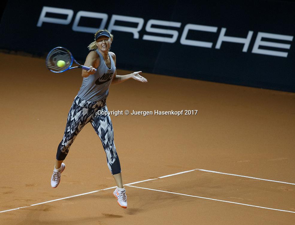 MARIA SHARAPOVA (RUS), erstes Training, practise<br /> <br /> Tennis - Porsche  Tennis Grand Prix 2017 -  WTA -  Porsche-Arena - Stuttgart -  - Germany  - 26 April 2017.