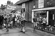 People's  March for Jobs, Yorkshire and Liverpool to London. Redbourn, Luton to Hemel Hempsted. 26/05/1981