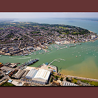 Aerial Photograph, Cowes, Isle of Wight,  canvas canvases prints print