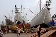 Sunda Kelapa, the bustling wooden schooner port of Jakarta.