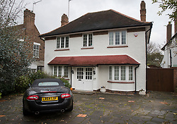 © Licensed to London News Pictures. 04/11/2017. London, UK. A Jaguar XK car is seen parked in the drive of a house in  Wimbledon where a seven year old girl was found seriously injured on Friday and has since died. Robert Peters appeared at Wimbledon Magistrates' Court on Saturday and was charged with attempted murder.  Photo credit: Peter Macdiarmid/LNP