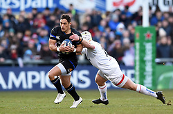 Jackson Willison of Bath Rugby takes on the Ulster defence - Mandatory byline: Patrick Khachfe/JMP - 07966 386802 - 18/01/2020 - RUGBY UNION - Kingspan Stadium - Belfast, Northern Ireland - Ulster Rugby v Bath Rugby - Heineken Champions Cup