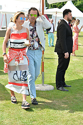 Zoe Jordan and Steve Aspinall at Cartier Queen's Cup Polo, Guard's Polo Club, Berkshire, England. 18 June 2017.