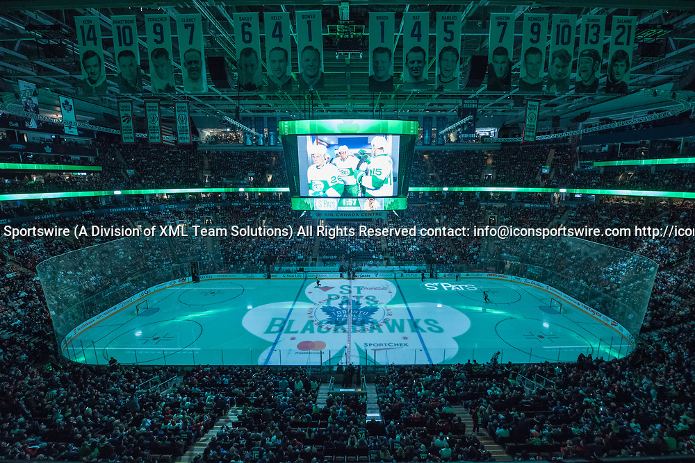 TORONTO, ON - MARCH 18: General view of Air Canada Centre before the NHL regular season game between the Toronto Maple Leafs and the Chicago Blackhawks on March 18, 2017, at Air Canada Centre in Toronto, ON, Canada. (Photograph by Julian Avram/Icon Sportswire)