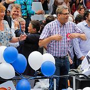 NLD/Amsterdam/20120804 - Canalparade tijdens de Gaypride 2012, politicus Henk Krol, Boris Dittrich
