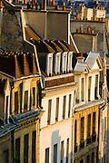 Morning light on houses in the Latin Quarter, Paris, France