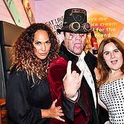 HunnyB (L) of BBC1 All Together Now Series 1 attend the preview PhoboPhobia Live Halloween Show on 10th October 2019, at The London Bridge Experience & London Tombs, London, UK.