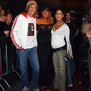 Premiere Jackass, Patty Brard, haar man Rene Muthert en dochter Priscilla