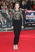 April 26, 2016 - Emily Vancamp attending 'Captain America: Civil War' European Film Premiere at Vue Westfield in London, UK.<br /> ©Exclusivepix Media