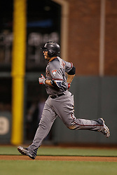 SAN FRANCISCO, CA - APRIL 18:  Welington Castillo #7 of the Arizona Diamondbacks rounds the bases after hitting a home run against the San Francisco Giants during the fourth inning at AT&T Park on April 18, 2016 in San Francisco, California.  (Photo by Jason O. Watson/Getty Images) *** Local Caption *** Welington Castillo