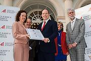 Certification ISO 9001 et 14001 de la Fondation Prince Albert II de Monaco en presence de SAS le Prince Albert II<br /> certifying ISO 9001 and 14001 of the Foundation Prince Albert II of Monaco  in the presence of HSH Prince Albert II