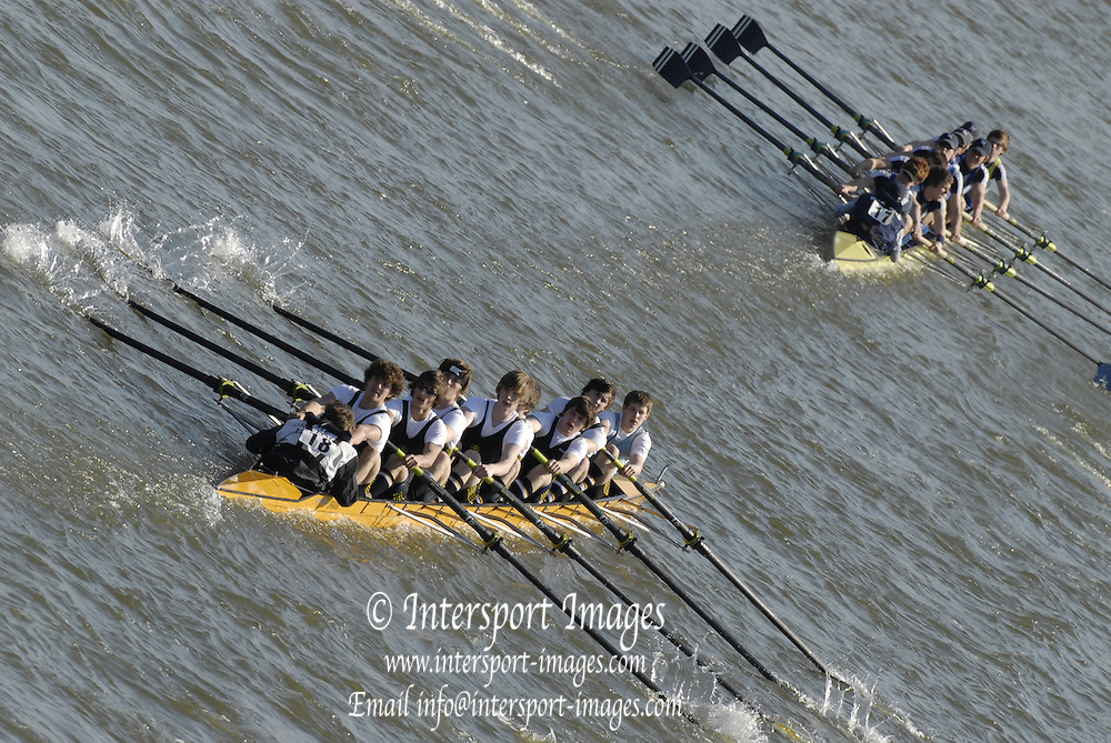 Chiswick. GREAT BRITAIN,  during the 2007 Schools Head of the River Race  raced over the Championship Course, [reverse] on the River Thames, London, on Thur 15.03.2007,  [Photo Peter Spurrier/Intersport Images]  [Mandatory Credit, Peter Spurier/ Intersport Images]. , Rowing Course: River Thames, Championship course, Putney to Mortlake 4.25 Miles,