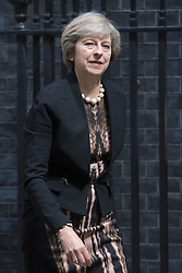 Downing Street, London, July 5th 2016. Home Secretary Theresa May leaves 10 Downing Street following the weekly cabinet meeting.