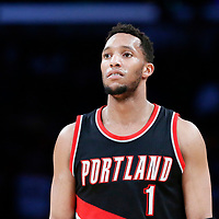 26 March 2016: Portland Trail Blazers guard Evan Turner (1) is seen during the Portland Trail Blazers 97-81 victory over the Los Angeles Lakers, at the Staples Center, Los Angeles, California, USA.