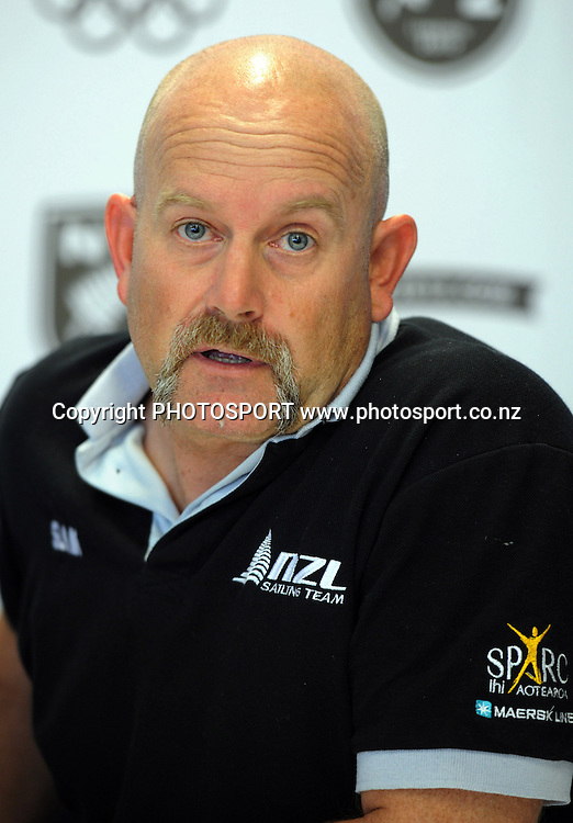 Yachting NZ Olympic Programme Manager Jez Fanstone during a press conference announcing the first members of an expected 200-strong New Zealand Olympic Yachting Team. London 2012 Olympics. Royal New Zealand Yacht Squadron, Auckland, New Zealand. Wednesday 21 December 2011. Photo: Andrew Cornaga / photosport.co.nz