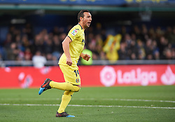 January 20, 2019 - Vila-Real, Castellon, Spain - Santiago Cazorla of Villarreal celebrates a goal during the La Liga Santander match between Villarreal and Athletic Club de Bilbao at La Ceramica Stadium on Jenuary 20, 2019 in Vila-real, Spain. (Credit Image: © AFP7 via ZUMA Wire)