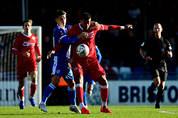 Tom Nichols of Bristol Rovers is marked by Chris Bush of Bromley - Mandatory by-line: Ryan Hiscott/JMP - 10/11/2019 - FOOTBALL - Memorial Stadium - Bristol, England - Bristol Rovers v Bromley - Emirates FA Cup first round