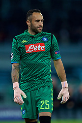 NAPLES, ITALY - Wednesday, October 3, 2018: Liverpool's Napoli's goalkeeper David Ospina during the UEFA Champions League Group C match between S.S.C. Napoli and Liverpool FC at Stadio San Paolo. (Pic by David Rawcliffe/Propaganda)