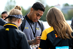 Malakai Fekitoa of Wasps arrives at The Ricoh Arena for the Premiership Cup fixture with Worcester Warriors - Mandatory by-line: Robbie Stephenson/JMP - 12/10/2019 - RUGBY - Ricoh Arena - Coventry, England - Wasps v Worcester Warriors - Premiership Rugby Cup