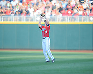 Mississippi's J.B. Woodman (12) vs. Virginia in the College World Series in Omaha, Neb. on Sunday, June 15, 2014. Virginia won 2-1.