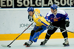 Marcus Weinstock of Sweden vs Markus Jokinen at Game 12 of IIHF In-Line Hockey World Championships Top Division Group match between National teams of Sweden and Finland on June 30, 2010, in Karlstad, Sweden. (Photo by Matic Klansek Velej / Sportida)