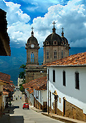 Colombia, Socorro, Cathedral del Nuestra Senora De Socorro, Stone Cupolas, Steep Streets, Andes Mountains, South America