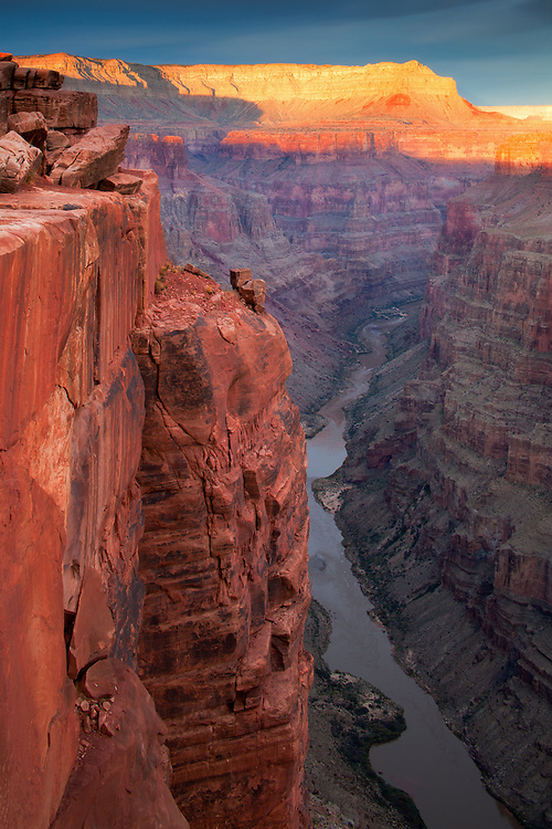 Toroweap and the Colorado River. Grand Canyon National Park in Arizona.