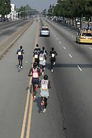 6 March, 2005: Elite runners run down Martin Luther King, Jr. BL during the 20th running of the LA Marathon  in Los Angeles, CA..Mandatory Credit: Jeff Lewis/Icon SMI.