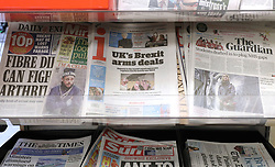 File photo dated 15/01/18 of the i newspaper on sale at a shop in London. Johnston Press, the publisher of the i, The Scotsman and The Yorkshire Post, has announced its intention to place itself in to administration.