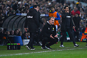 Marcelo Bielsa of Leeds United (Manager) watches on during the EFL Sky Bet Championship match between Leeds United and West Bromwich Albion at Elland Road, Leeds, England on 1 March 2019.