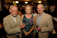 "19/7/2011. Michael Cudddy GDSI, MAry Regan Ulster BAnk and Seamus Cuddy, Salthill in McSwiggans for the pre show reception of Propellors ""Comedy of Errors"" by Shakspeare in the Galway Arts Festival, sponsored by Ulster Bank. Photo:Andrew Downes"